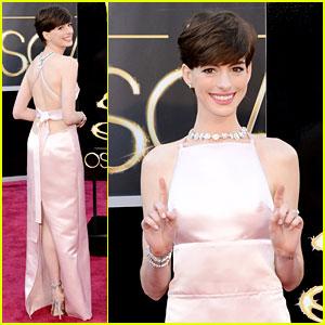 Anne Hathaway antes en la alfombra roja